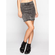TINSELTOWN Acid Wash Denim Bodycon Skirt
