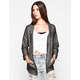 FULL TILT Marled French Terry Womens Blazer