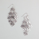 FULL TILT Cut Out Square Disc Chandelier Earrings