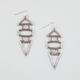FULL TILT 3 Tier Geo Drop Earrings
