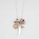 FULL TILT Horn/Buddha Charm Necklace