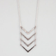 FULL TILT 4 Tier Rhinestone Arrow Necklace