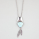 FULL TILT Turquoise Feather Necklace