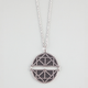 FULL TILT Faux Leather Medallion Pendant Necklace