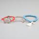 FULL TILT 3 Piece Rhinestone Bar/Turquoise Bead/Elephant Bracelets