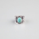 FULL TILT Textured Band Turquoise Stone Ring