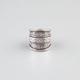 FULL TILT Etched  Wide Band Ring