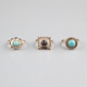 FULL TILT 3 Piece Stone Ring Set