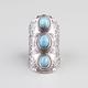 FULL TILT Turquoise Stone Knuckle Ring