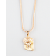 THE GOLD GODS Micro Jesus Piece Necklace