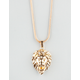 THE GOLD GODS Lion Head Necklace