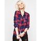 FULL TILT Two Tone Womens Flannel Shirt