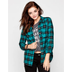 FULL TILT Womens Washed Boyfriend Flannel Shirt