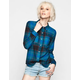 FULL TILT Plaid Womens Flannel Boyfriend Shirt