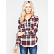 FULL TILT Womens Boyfriend Flannel Shirt