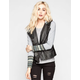 OTHERS FOLLOW Undercover Womens Hooded Faux Leather Jacket