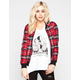 FULL TILT Plaid Print Womens Bomber Jacket
