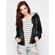 FULL TILT Plaid Hood Womens Faux Leather Jacket