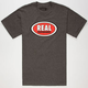 REAL SKATEBOARDS OG Oval Mens T-Shirt