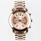 GENEVA Rhinestone Accent Chrono Watch