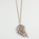 FULL TILT Rhinestone Feather Necklace