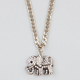 FULL TILT Rhinestone Elephant Necklace