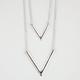 FULL TILT 2 Row Arrow Pendant Necklace