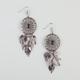 FULL TILT Medallion Leaf Cluster Earrings