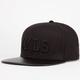 LVLS Black Stars Mens Strapback Hat