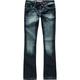 YMI Rhinestone Rivet Girls Skinny Flare Jeans