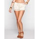 FULL TILT Crochet Overlay Womens Shorts