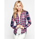 FULL TILT Plaid Mix Womens Flannel Shirt