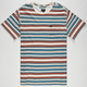 RVCA Hairy Stripe Mens Pocket Tee