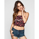 FULL TILT Ditsy Floral Print Womens Tube Top