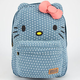 LOUNGEFLY Chambray Hello Kitty Backpack