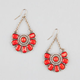FULL TILT Beaded Medallion Drop Earrings