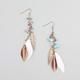 FULL TILT Feather Bead Earrings