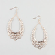 FULL TILT Scroll Cutout Teardrop Earrings