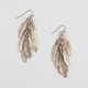 FULL TILT Feather Cluster Earrings