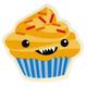 Vampire Cupcake Sticker