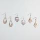 FULL TILT 3 Pairs Filigree Kite/Heart/Donut Earrings