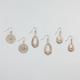 FULL TILT 3 Pairs Filigree Flower/Teardrop Earrings