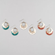 FULL TILT 3 Pairs Donut Earrings
