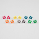 FULL TILT 6 Pairs Daisy Stud Earrings
