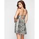FULL TILT Linear Boho Print Lace Up Back Dress