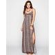 FULL TILT Linear Print T-Back Maxi Dress