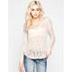 FULL TILT Slub Womens Shirtail Pullover Sweater