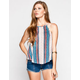CHLOE K Folk Womens High Neck Tank