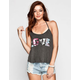 FULL TILT American Love Womens T Back Tank