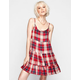 LOTTIE & HOLLY Plaid Tiered Babydoll Dress
